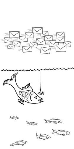 Enveloppes avec poissons