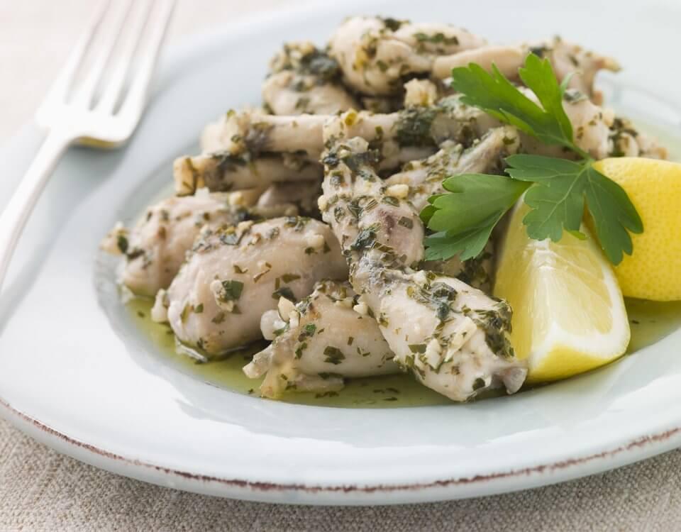 cuisse de grenouilles fraiches à l'ail et au persil