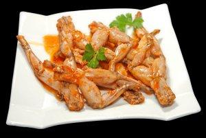cuisses de grenouilles fraiches caramélisées à la chinoise